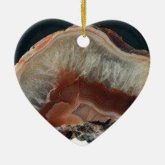 Brown Agate Ceramic Ornament