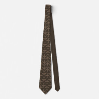 Brown Airliner Pattern Tie