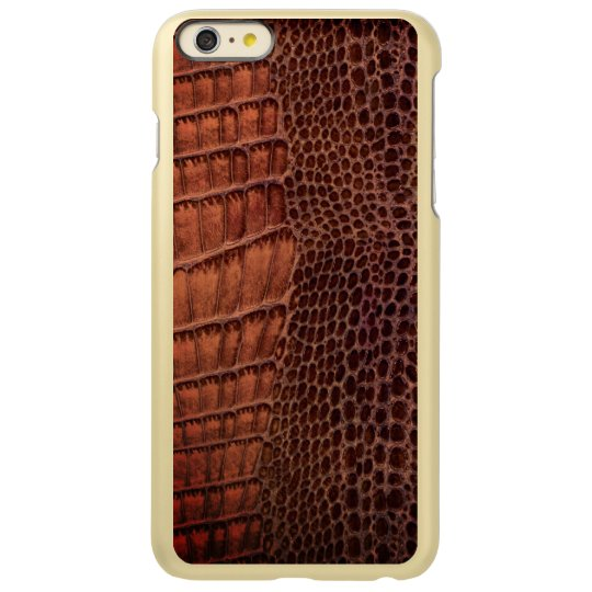 Brown Alligator Classic Reptile Leather (Faux)