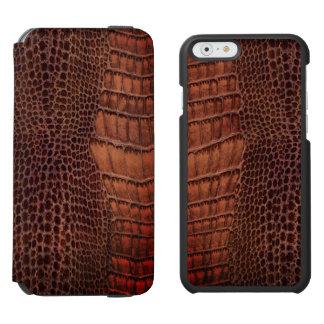 Brown Alligator Classic Reptile Leather (Faux) Incipio Watson™ iPhone 6 Wallet Case
