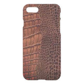 Brown Alligator Classic Reptile Leather (Faux) iPhone 7 Case