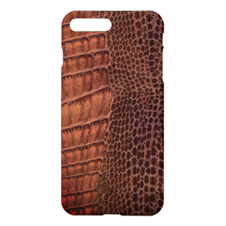 Brown Alligator Classic Reptile Leather (Faux) iPhone 8 Plus/7 Plus Case