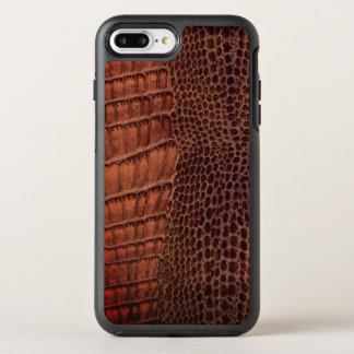 Brown Alligator Classic Reptile Leather (Faux) OtterBox Symmetry iPhone 7 Plus Case