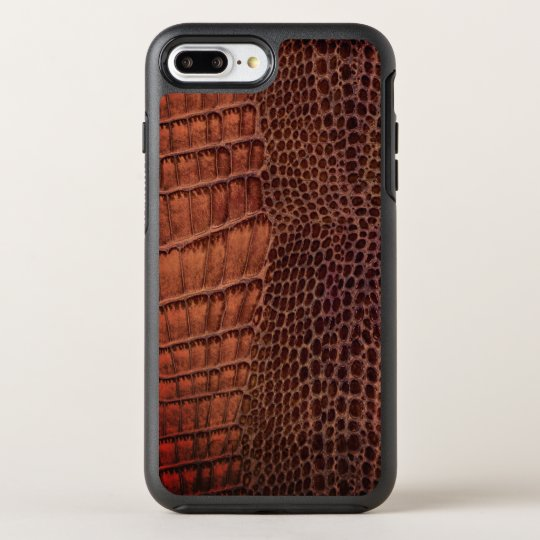 Brown Alligator Classic Reptile Leather (Faux) OtterBox Symmetry iPhone 8 Plus/7 Plus Case