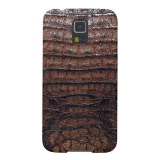 Brown Alligator Skin Print Galaxy S5 Cases