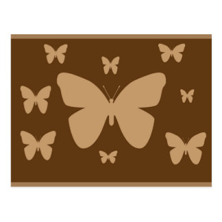Brown and Beige Butterfly Post Card