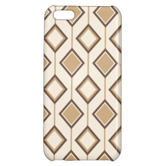 Brown and beige diamonds and lines case for iPhone 5C