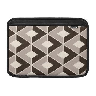 Brown and beige geometric diamonds sleeves for MacBook air