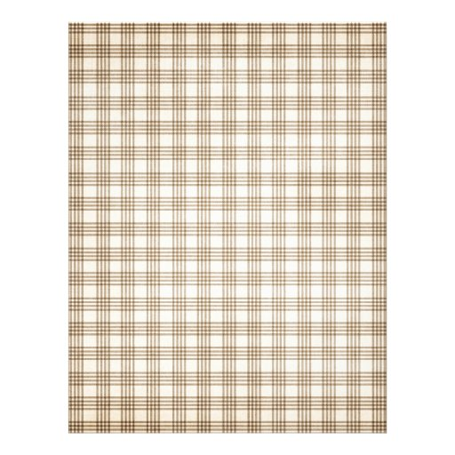 Brown and Beige Plaid Customized Letterhead