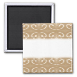 Brown and Beige Swirl Pattern Magnet