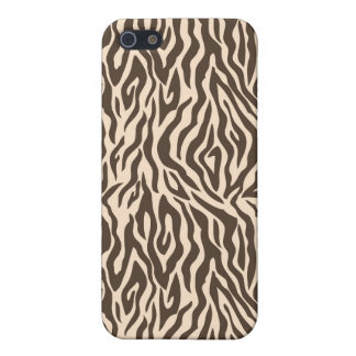 Brown and Beige Zebra Print iPhone 5/5S Cover