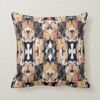 brown and black cross throw pillow