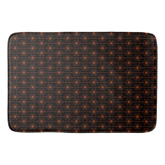 Brown And Black Geometric Star Patterned Bathroom Mat