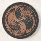 Brown and Black Yin Yang Scorpions Coaster