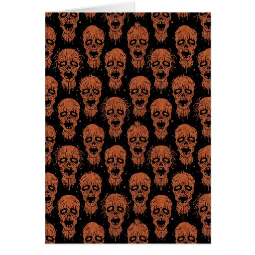 Brown and Black Zombie Apocalypse Pattern Card