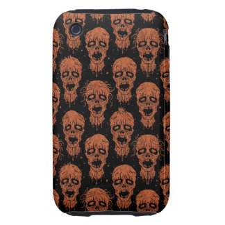 Brown and Black Zombie Apocalypse Pattern Tough iPhone 3 Case