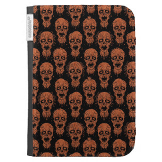 Brown and Black Zombie Apocalypse Pattern Kindle Folio Case
