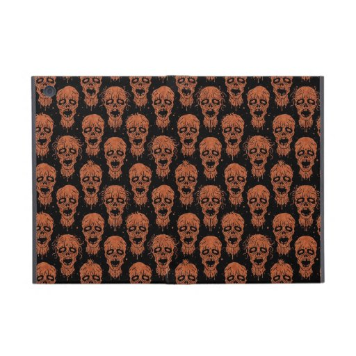 Brown and Black Zombie Apocalypse Pattern iPad Mini Case