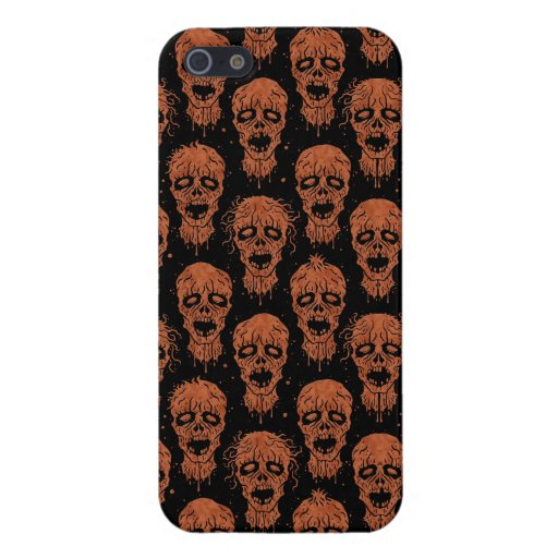 Brown and Black Zombie Apocalypse Pattern iPhone 5 Cover