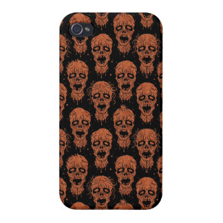 Brown and Black Zombie Apocalypse Pattern iPhone 4 Cases