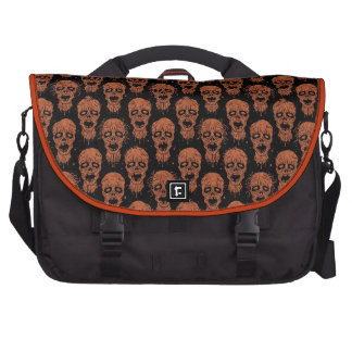 Brown and Black Zombie Apocalypse Pattern Commuter Bags
