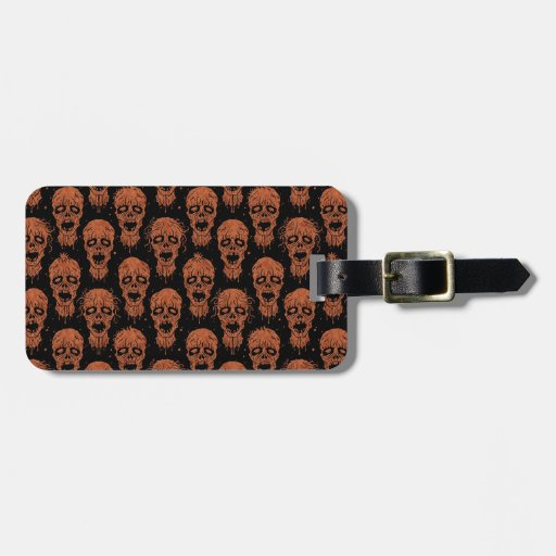 Brown and Black Zombie Apocalypse Pattern Tags For Bags