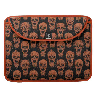 Brown and Black Zombie Apocalypse Pattern MacBook Pro Sleeves