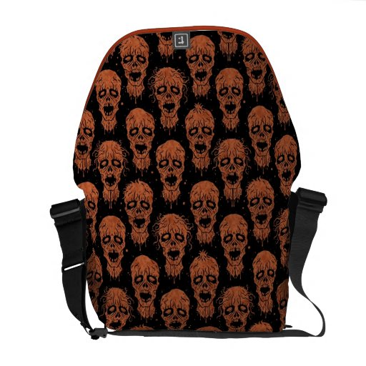 Brown and Black Zombie Apocalypse Pattern Courier Bags