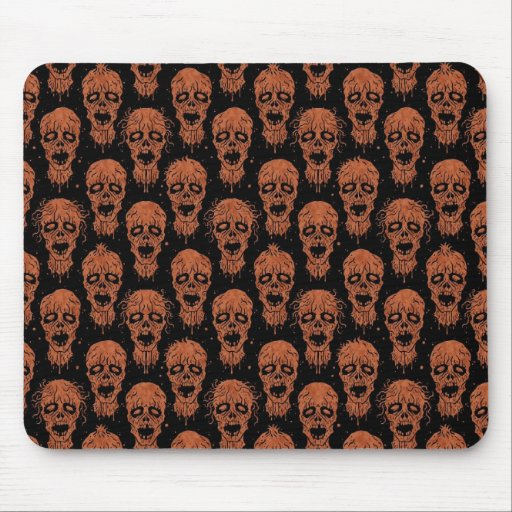 Brown and Black Zombie Apocalypse Pattern Mousepads