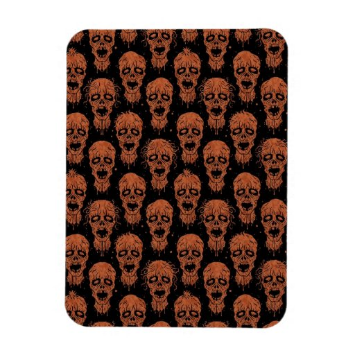 Brown and Black Zombie Apocalypse Pattern Rectangle Magnet