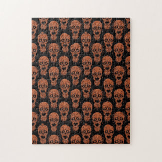 Brown and Black Zombie Apocalypse Pattern Puzzle