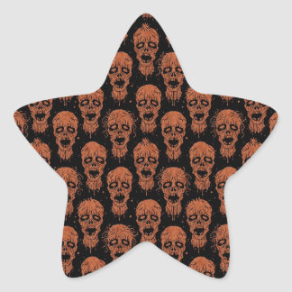 Brown and Black Zombie Apocalypse Pattern Stickers
