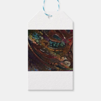 Brown And Blue Abstract Gift Tags