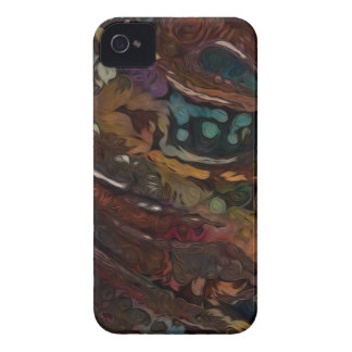 Brown And Blue Abstract iPhone 4 Covers