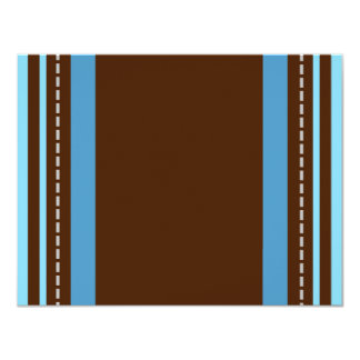 Brown and Blue Background Card