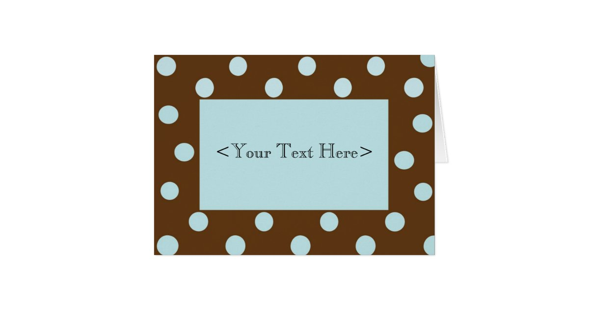 printing photos from iphone brown and blue polka dot stationery card zazzle ca 15908