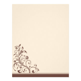 Brown and Cream Floral Wedding Stationery