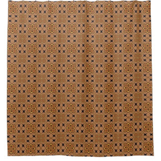 Brown And Cream Mosaic Pattern