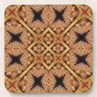 Brown And Cream Mosaic Pattern Coaster