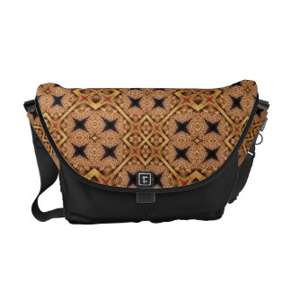 Brown And Cream Mosaic Pattern Messenger Bag