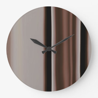 Brown and Earth Tone Modern Design Wall Clock