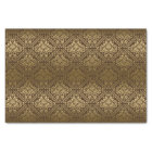 Brown And Faux Metallic Gold Floral Damasks 5 Tissue Paper