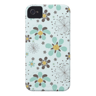 BROWN AND GOLD FLOWERS Case-Mate iPhone 4 CASE