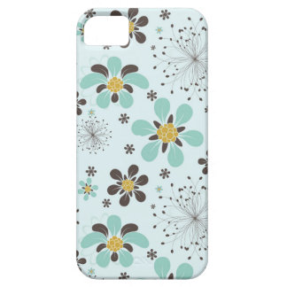 BROWN AND GOLD FLOWERS iPhone 5 COVER