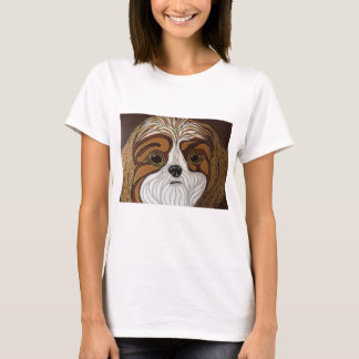 Brown and Gold Shih-Tzu T-Shirt