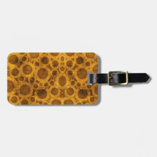 Brown and Gold Steampunk Pattern Luggage Tag
