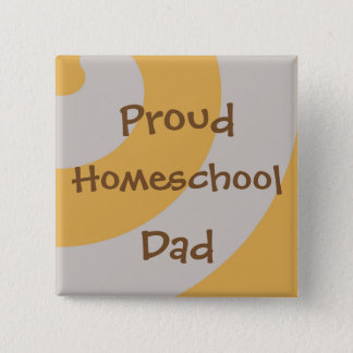 Brown and Gray Proud Homeschool Dad 2 Inch Square Button