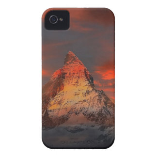 Brown and Gray White Mountain Under Cloudy Sky iPhone 4 Case