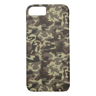 Brown And Green Military Camo iPhone 8/7 Case