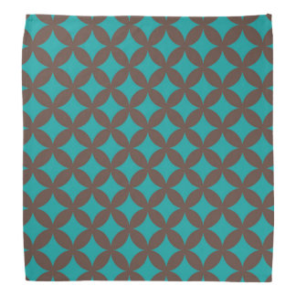 Brown and Mint Geocircle Design Bandana